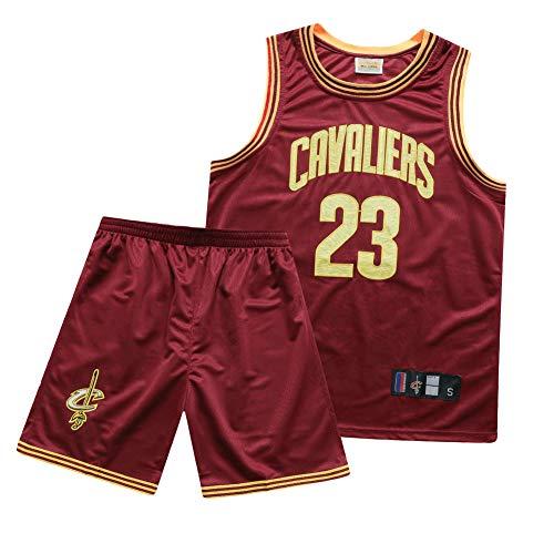 Lebron James-Cleveland Cavaliers Herren Basketball Trikot 23#, Basketball Mesh Besticktes T-Shirt Weste-Gedenkausgabe, Cooler, bequemer Stoff-red A-S