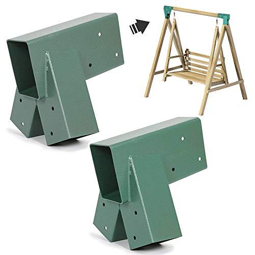 ECOTRIC Heavy Duty Steel A-Frame Swing Set Mounting Bracket...