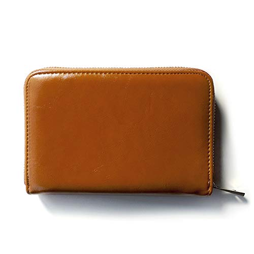 (JOIN・K)通帳ケース ジャバラ 革 シンプル 銀行 通帳入れ カードケース レディース 大容量 キャメル