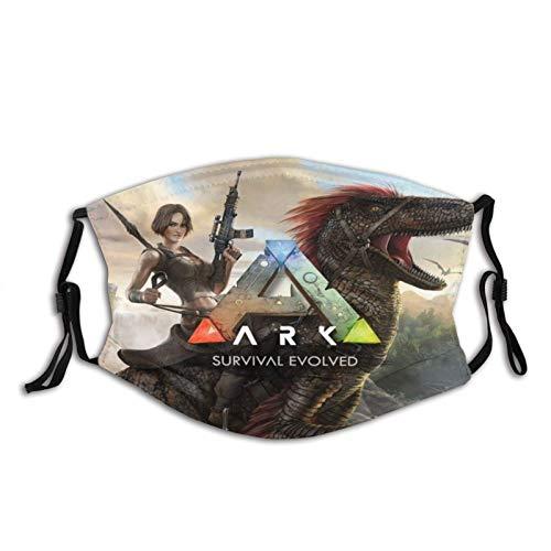 Welc my King Ark Survival Evolved Face Bandana Unisex Benutzerdefinierter warmer Schal Waschbare Mode Einstellbarer Schutz 5-lagiger Aktivkohlefilter Unisex Kopftuch-OneSize-