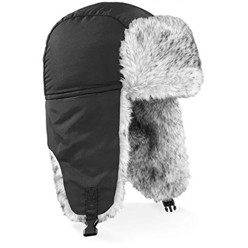 Shirtinstyle Sherpa Chapeau, Fashion-Hat, Bonnet d'hiver - Noir L/XL, L-XL