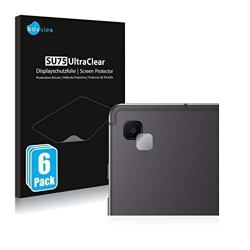 savvies Protector Pantalla Compatible con Samsung Galaxy Tab S6 Lite 2020 (SÓLO Cámara) (6 Unidades) Pelicula Ultra Transparente