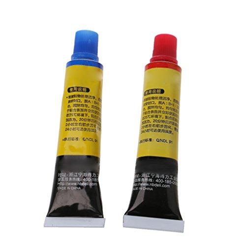 2 unidades de resina epoxi AB pegamento multiusos super adhesivo para vitrocerámica