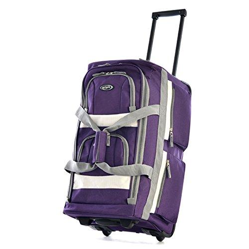 Olympia Luggage 22' 8 Pocket Rolling Duffel Bag