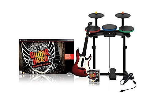 Guitar Hero : Warriors of Rock + guitare + batterie + micro