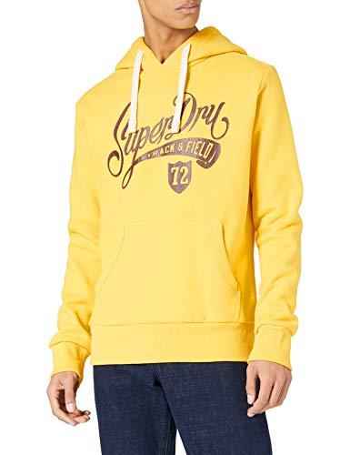 Superdry Collegiate Graphic Overhead Sudadera con Capucha, Nautical Yellow, L para Hombre