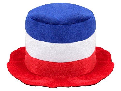 Alsino Plüschhut Fußballhut Frankreich 00/0744 Zylinderhut Fanhut Fanartikel Fußball