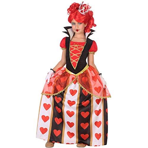 Atosa-56873 Disfraz Reina Corazones, Color Rojo, 10 a 12 aos (56873)