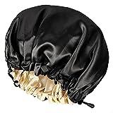 CHORHA Satin Sleep Cap,Double-Sided Adjustable Sleep Bonnet,Bonnet Cap for Sleep