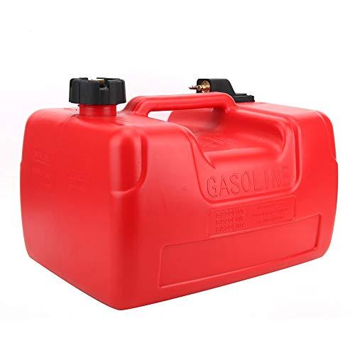 Soapow Tanque de combustible portátil Tanque de combustible marino de 12 galones Tanque de combustible externo antiestático para Kayak Rubber Boa