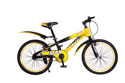 """Vaux Max 20T Kids Bicycle for Boys Single Speed Cycle (Ideal for Cyclist with Height 3'11"""" – 4'3"""") – Yellow"""