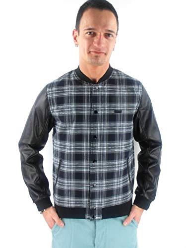 WESC Collegejacke Jacke Jacket Lachlan SCHWARZ KARIERT A104434999 (XS)