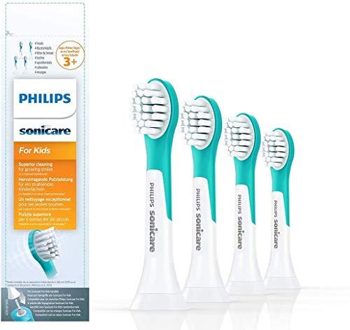 Philips Sonicare Opzetborstels For Kids Compact – 4 Stuks – Compact formaat – Opklikbaar – Kindvriendelijke reiniging…