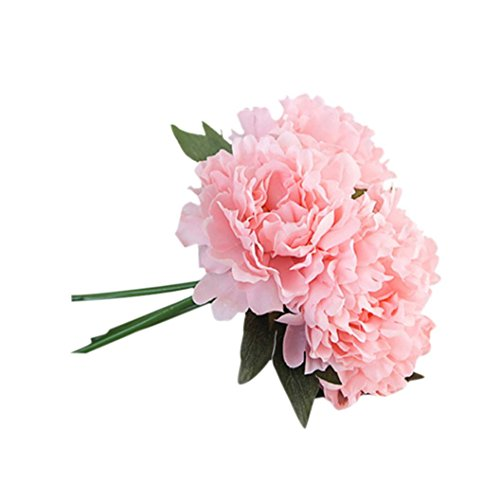 Arreglo de flores artificiales de peonias tipo hortensias de seda de HLHN para decorar oficinas, hogares, escritorios, jardines, ramos de matrimonio, fiestas en el jardín.