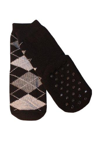 Weri Spezials Niños ABS calcetín frotee de suela romben Diseño en negro negro