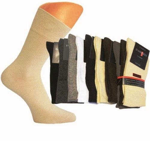 4511/6 Paar Damen Komfort Socken ohne Gummi braun,sand und beige, 39-42