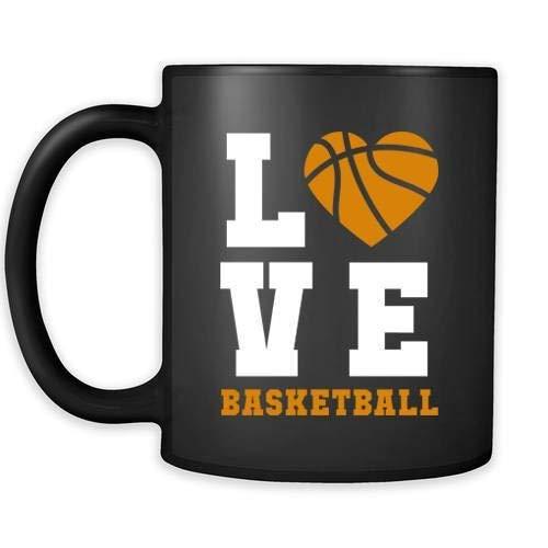 Taza de baloncesto con texto en inglés 'Love Basketball - Taza de café para el día del padre, 11 oz