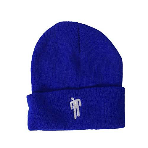 An Ostrich Regalos Hip-Hop Skullies de Punto del Casquillo del Sombrero de Accesorios de Vestuario sólidos Sombrero Hecho Punto Invierno Caliente del Invierno de 7 Colores,Azul