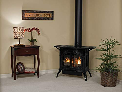 Great Features Of Empire Comfort Systems Heritage Cast Iron Matte Black Stove DVP20CC70FP - Liquid P...