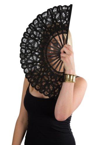 durable lace hand fan - 1