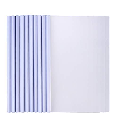STOBOK Organizzatore di Carta per copertine per Report di Rilegatura Trasparente Liscia in plastica A4 da 10 Pezzi con Fornitura di Studio a Barra Scorrevole