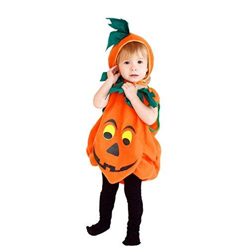 Per Doux & Mignonne Bébé Enfant Citrouille Costume pour Halloween (chapeau compris), S 2-3 ans