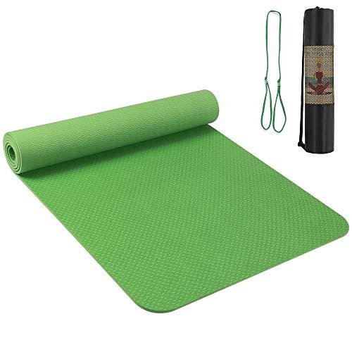 Roeam Yogamatte Rutschfest Schadstofffrei für Kinder Schwangere, Gymnastikmatte Sportmatte aus TPE Material für Yoga Pilates Fitness, 183 x 61 x 0,6 cm
