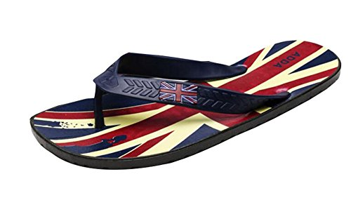 Black Temptation Simple Design Hommes Anti-dérapant Flip Flops Chaussons de Plage - Le Drapeau Union Motif