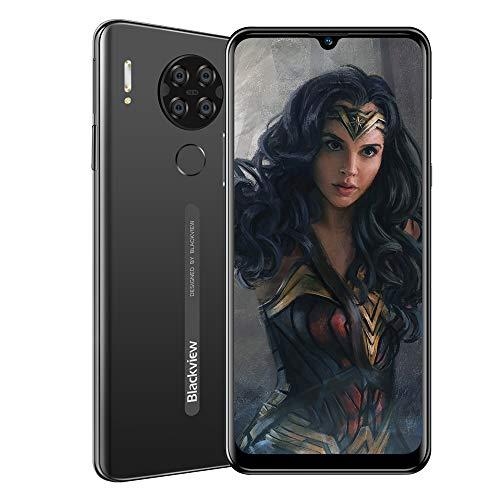 Blackview A80 (2020) Smartphone Offerta 4G - 6,21 pollici Android 10 2 GB RAM + 16 GB ROM,4200 mAh Batteria 13 MP + 8 MP Doppia fotocamera Dual SIM Telefono cellulare Nero