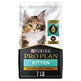 Purina Pro Plan With Probiotics, High Protein Dry Kitten Food, Chicken & Rice Formula - 7 lb. Bag (Packaging May Vary)