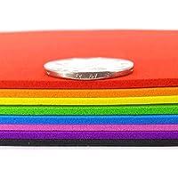 SUPVOX Papel de esponja gruesa papel de espuma artesanía a4 tamaño color mezclado artesanía diy uso 10 piezas