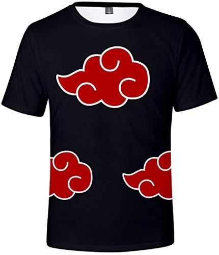 EMILYLE Herren T-Shirt Naruto Manga Japanische Ninja Anime Uchiha Top Fashion Oberteile (M, Akatsuki)