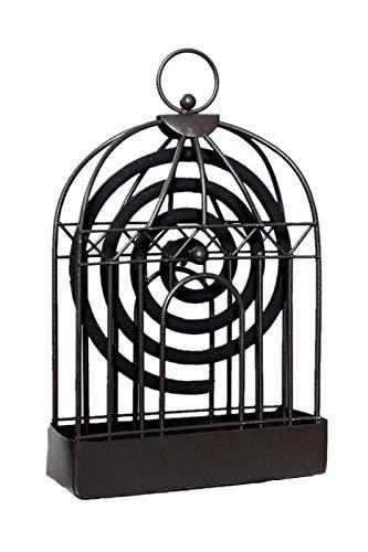TURMIN Porte-encens Anti Moustique, Brûleur d'encens Anti-Moustique en Fer Vintage, Porte-encens Anti-Moustique en Bois de Santal, Utilisé pour Le Patio Extérieur (Noir)