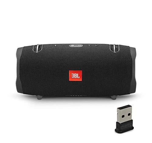 JBL Xtreme 2 Portable Bluetooth Waterproof Speaker Bundle with Plugable USB 2.0 Bluetooth Adapter - Black