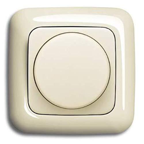 REV Ritter LED Dimmer (LED 5-100 Watt, Glühlampe 25-300 Watt) Unterputz Drehdimmer, PrimaLuxe, kombiniert mit Busch Jäger Rahmen 2511-212 und Dimmerscheibe 2115-212 DURO2000 cremeweiß