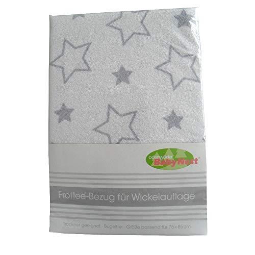 Odenwälder 026012 Wickelauflagenbezug Sterne 75x85, Farbe:silber