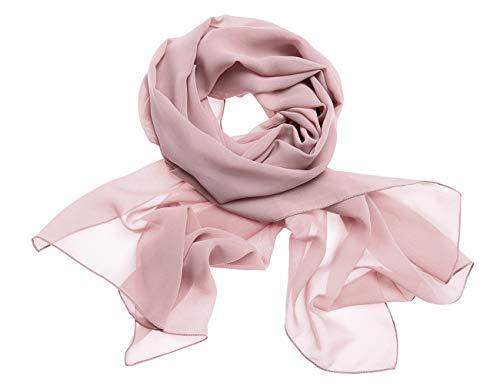 Dresstells Chiffon Schal Stola für Abendkleider in Verschiedenen Farben Blush 190cmX70cm/ Medium