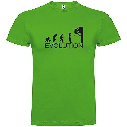 Camiseta Montañismo Evolution Climbing Manga Corta Hombre Verde Grass L
