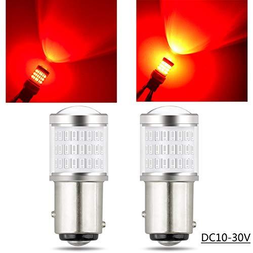 TORIBIO S25 P21/5W ダブル球 1157 BAY15D BA15S 高輝度 高品質 57smd LED素子 10V-30V テールライト汎用 ブレーキライト レッド 2個1セット