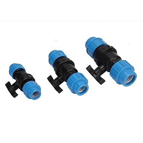 TONGTAIRUI-LIGHTS 20 mm 25 mm 32 mm Tubo de Interfaz de la válvula PE Mejoras Fontanería Accesorios de tubería de riego Tubo de Control del Interruptor de Agua PC 1 (Specification : 32mm 32mm)