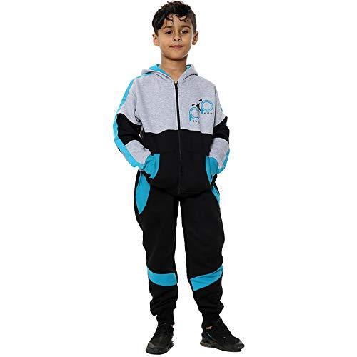 A2Z 4 Kids® Mädchen-Trainingsanzug HNL mit Reißverschluss, Oberteil und Hose, Jogginganzug mit Kapuze, für Kinder im Alter von 2, 3, 4, 5, 6, 7, 8, 9 10, 11, 12, 13 Jahren Gr. 11-12 Jahre, blau