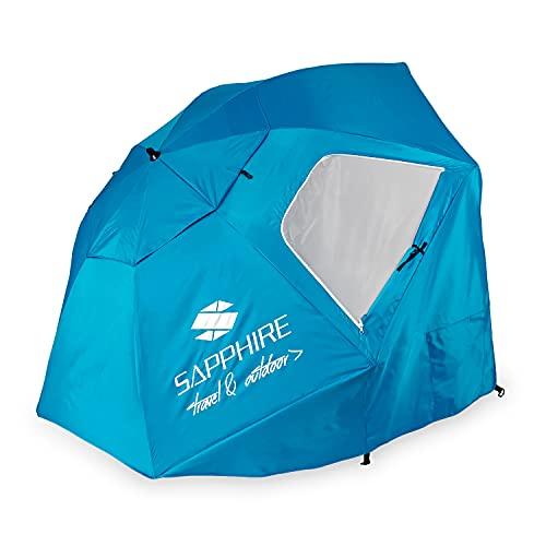Strandschirm Sonnenschirm Gartenschirm Balkonschirm Sonnen-und Regenschutz Umbrella Reise Urlaub UV Schutz Durchmesser 240cm