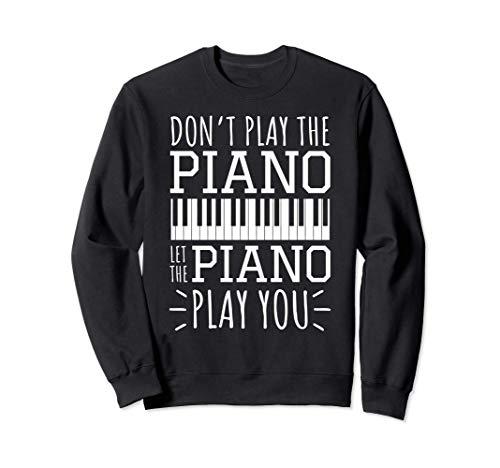 Klavier Pianist Klavierspieler Jazz Musiker I Improvisieren Sweatshirt