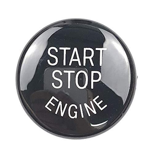 SGerste Kit de conversion de garniture ronde pour bouton de démarrage et arrêt de voiture Noir 25 mm