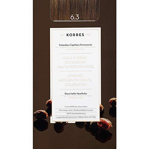 Korres - Coloration Huile D'Argan Golden/Honey Dark Blonde N°6.3 - La Boite De 145Ml - Vendu par pièce - Livraison Gratuit en France