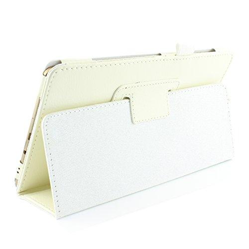 Urcover® Schutzhülle kompatibel mit Samsung Galaxy Tab S 8.4 Smart Hülle Hülle Sleeve Tasche [ Stand-Funktion ] Flip Cover, Edel Wallet, Tablet Zubehör Weiß