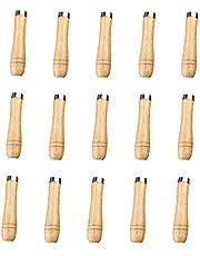 Shuny 15 st handtag för träfil, hanterar säkerhetsfil, träfilhandtag med säkerhetsring i metall, filhandtag för filer och träfiler, 90 mm lång, lämplig för 4-15 cm filer i olika former