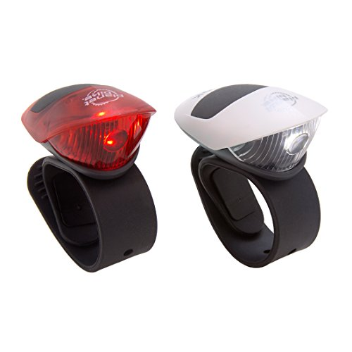 Planet Bike Spok Front and Tail Bike Lights, Up to 100 Hours Run Time, Easy to Install for Bicycle Safety Flashlight, Battery Operated, Super Bright 20 Lumen Output, Visible Up to 1 Mile