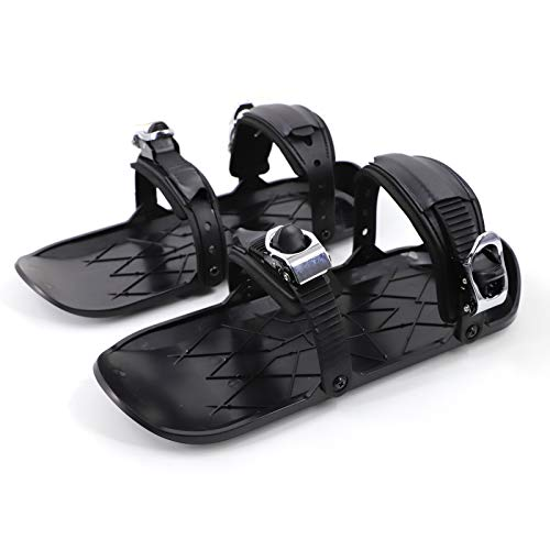 Outdoor Ski Mini Shoe 15.1 Inch Adjustable Snowboard Sled Shoes Anti-Slip Foot Panels Winter Sports Skiing Equipment for Outdoor Enthusiasts (BlackB)