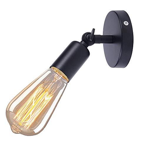 iDEGU - Aplique de pared industrial vintage E27 lámpara de pared con...